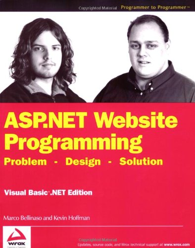 9780764543869: ASP.Net Website Programming: Problem - Design - Solution: Visual Basic .NET Edition (Programmer to Programmer)