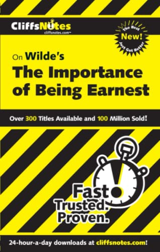 9780764544613: CliffsNotes Wilde's The Importance of Being Earnest (CLIFFSNOTES LITERATURE)