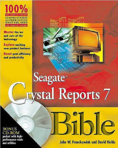 9780764545924: Seagate Crystal Reports X Bible With Cdrom (Bible (Wiley))