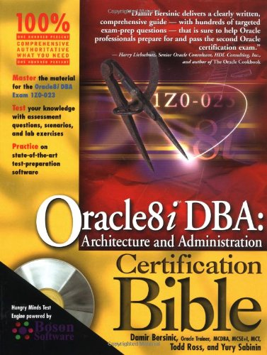 9780764548178: Oracle 8i DBA: Architecture and Administration Certification Bible