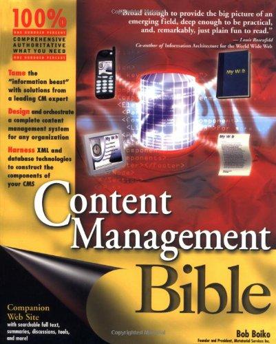 Content Management Bible: Boiko, Bob