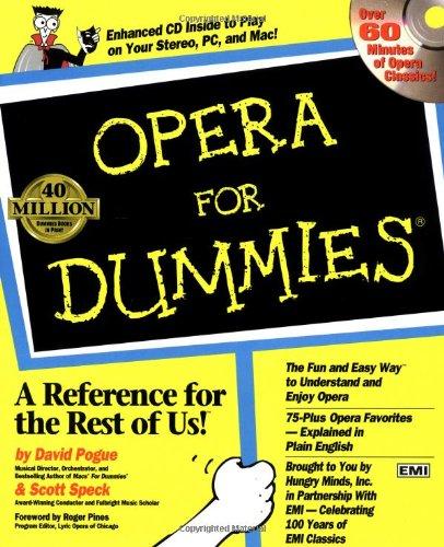 9780764550102: Opera For Dummies