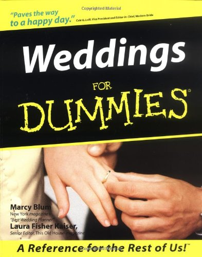 9780764550553: Weddings For Dummies