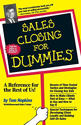 9780764550638: Sales Closing For Dummies