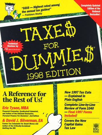 9780764550690: Taxes for Dummies, 1998 (For Dummies Series)