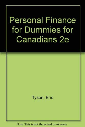 Personal Finance For Dummies? For Canadians (076455123X) by Eric Tyson; Tony Martin