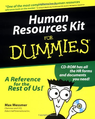 Human Resources Kit for Dummies: Messmer, Max