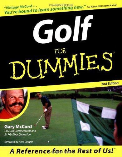 9780764551468: Golf For Dummies (For Dummies (Computer/Tech))