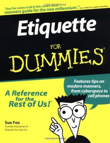 Etiquette for Dummies: Sue Fox