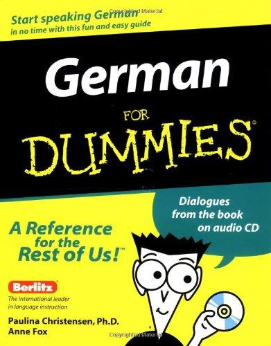 9780764551956: German For Dummies