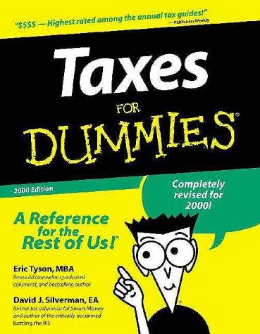 Taxes For Dummies: Tyson, Eric, Silverman EA, David J.