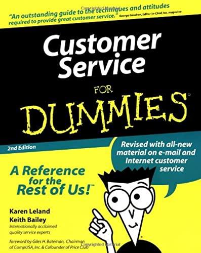 9780764552090: Customer Service For Dummies (For Dummies (Computer/Tech))