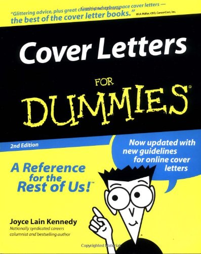 9780764552243: Cover Letters For Dummies