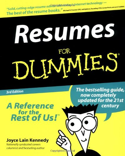 9780764552267: Resumes For Dummies (Resumes for Dummies, 3rd ed)