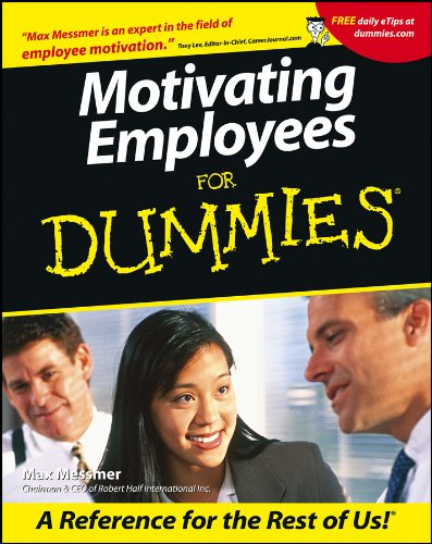 Motivating Employees For Dummies: Messmer, Max