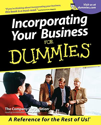 9780764553417: Incorporating Your Business For Dummies