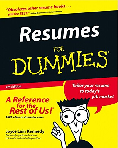 9780764554711: Resumes for Dummies