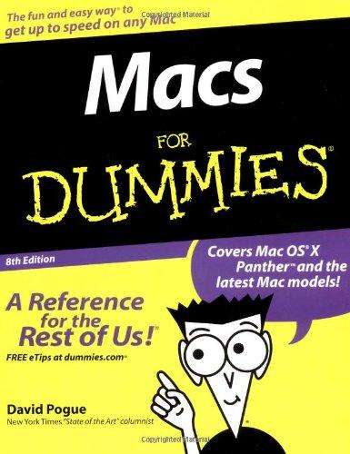 9780764556562: Macs For Dummies