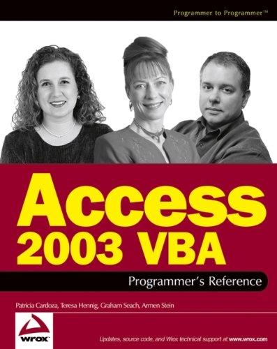 9780764559037: Access 2003 Vba Programmer's Reference