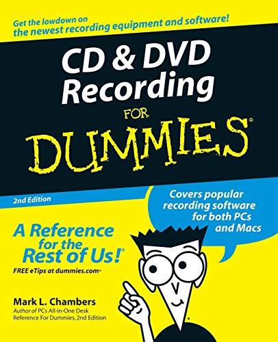 9780764559563: CD DVD Recording For Dum 2e (For Dummies)