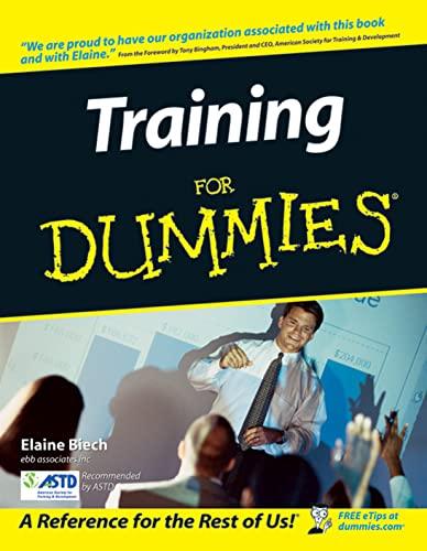 9780764559853: Training for Dummies [Lingua inglese]