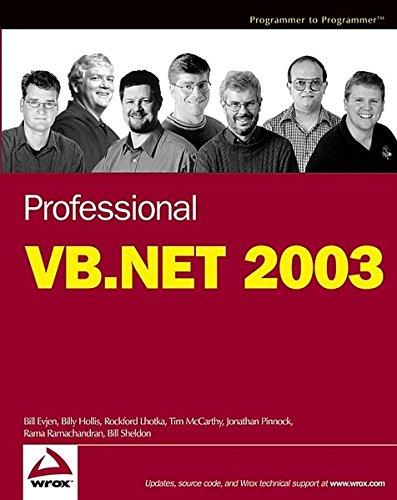 9780764559921: Professional VB.NET 2003
