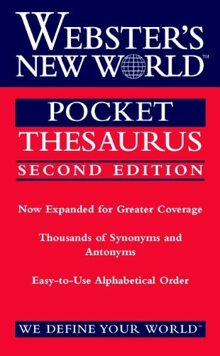 9780764561481: Webster's New World Pocket Thesaurus, Second Edition