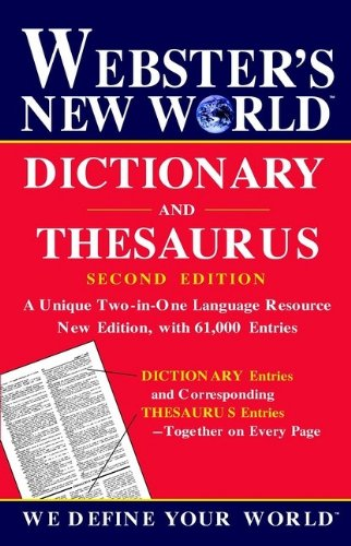 9780764563393: WEBSTER'S NEW WORLD DICTIONARY AND THESAURUS SECOND EDITION 2002C
