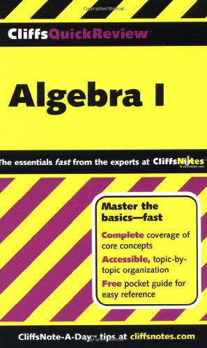 9780764563706: CliffsQuickReview Algebra I (Bk. 1)