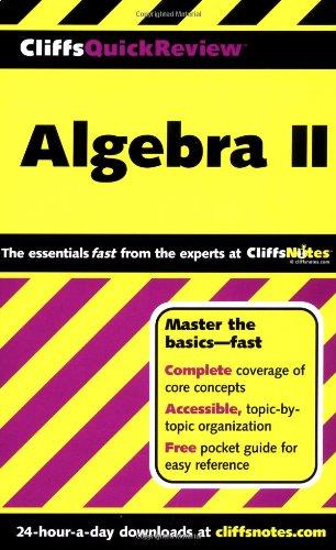 9780764563713: Algebra II (Cliffs Quick Review)
