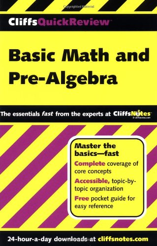9780764563744: CliffsQuickReview Basic Math and Pre-Algebra
