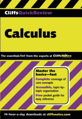 9780764563768: CliffsQuickReview Calculus