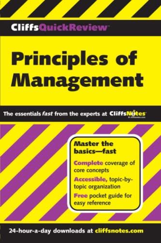 9780764563843: Cliffsquick Review Principles of Management