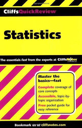 9780764563881: Cliffsquickreview Statistics