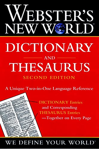 9780764565458: Webster's New World Dictionary and Thesaurus