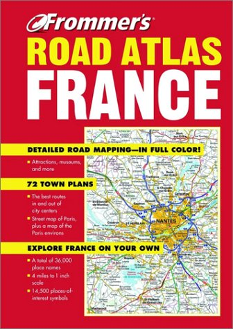 Frommer's Road Atlas France: The Automobile Association, Inc.