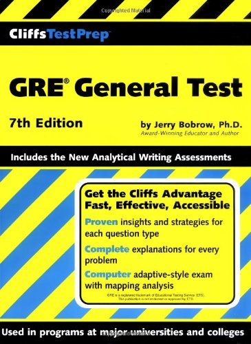 9780764567070: CliffsTestPrep GRE General Test