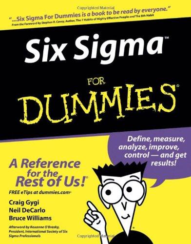 9780764567988: Six Sigma for Dummies