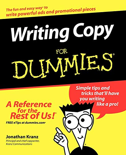 9780764569692: Writing Copy For Dummies