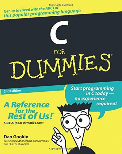 9780764570681: C for Dummies