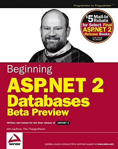 9780764570810: Beginning ASP.NET 2.0 Databases: Beta Preview (Programmer to Programmer)