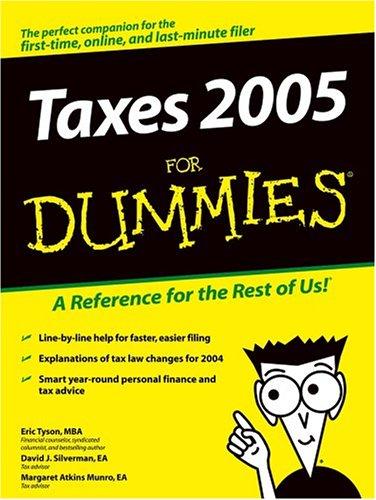 9780764572111: Taxes 2005 For Dummies (Taxes for Dummies)
