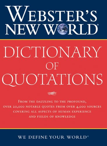 Webster's New World Dictionary of Quotations: Harraps