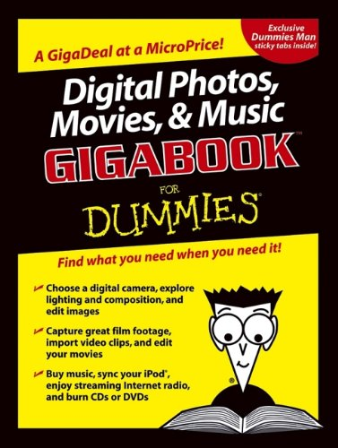 9780764574146: Digital Photos, Movies and Music Gigabook: For Dummies (For Dummies S.)