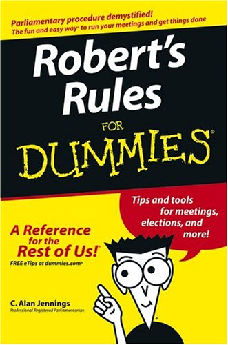 9780764575747: Robert's Rules For Dummies