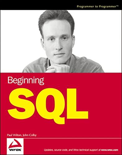 9780764577321: Beginning SQL