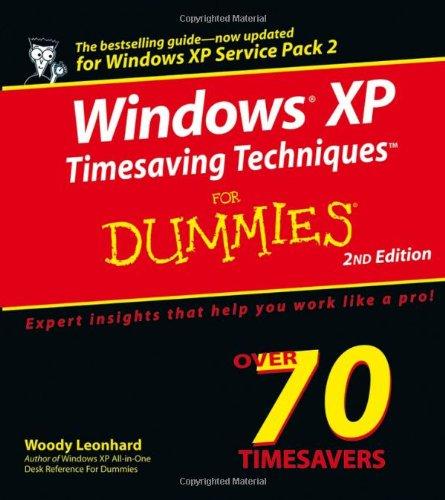 9780764578830: Windows XP Timesaving Techniques For Dummies