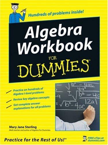 9780764584671: Algebra Workbook for Dummies
