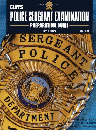9780764585388: CliffsTestPrep Police Sergeant Examination Preparation Guide
