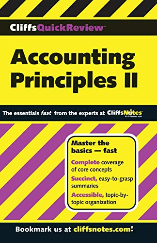 9780764585654: CliffsQuickReview Accounting Principles II (Cliffs Quick Review (Paperback)) (Bk. 2)